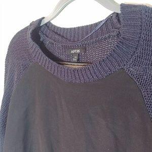 Apt. 9 Blue/Black Slim Sweater from Nordstrom